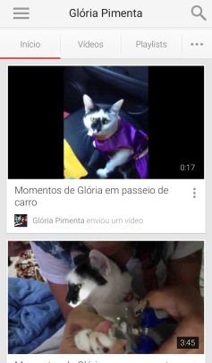 Youtube - Glória Pimenta
