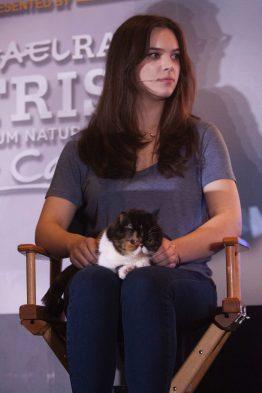 Pudge a gata bigoduda que bombou na net com sua miãe Kady Lone. Um dia estarei lá fazendo sucesso com ela! Reprodução / Facebook CatCon