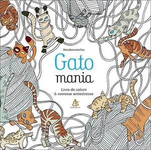 livro de colorir gato