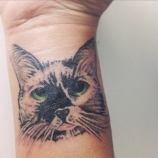 tatuagem gato realista